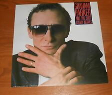 Graham Parker and The Shot Steady Nerves Poster 2-Sided Flat 1985 Promo 12x12