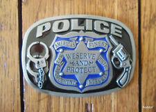 Police Belt Buckle Trade Policeman Cop Law Enforcement Hand Cuffs