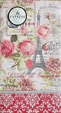 cYPRESS hOME Set of 15 Guest Towels Buffet Napkins - Sweet Paris