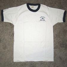 New Old Stock Vintage Single Stitch ONEIDA EAGLE Bow Logo T-Shirt White/Blue