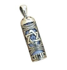 Mezuzah With Star of David Judaica 925 Sterling Silver Jewish Pendant + Necklace