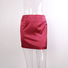 Sexy Women Satin Silky Short Mini Skirt High Waist Bodycon Safety Petticoat