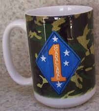 Coffee Mug Military Marine Corps 1st Division NEW 14 ounce cup with gift box