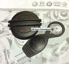 VW Golf Corrado VR6 GTi G60 Black Coolant Cap + Washer Bottle Cap OEM+ Upgrad...