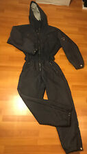 POSTCARD Made in Italy Quilted Puffer 1-Piece SNOWSUIT Ski Women's 46 Dark Gray