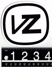 Von Zipper VZ 4.25 in x 3.875 in White/Black Sticker Surf Skate Ski Decal