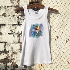 Led Zeppelin vest tank top rock music white Icarus Swan Song official merch UK 6