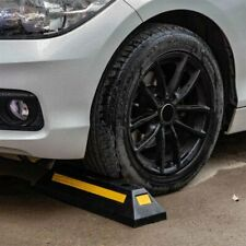 New listing Heavy Duty Rubber Parking Curb Guide Car Garage Wheel Stop Stoppers