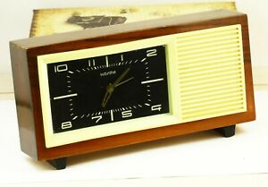Vintage mechanical alarm table clock NAIRI melody Steppe and steppe all around