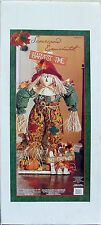"""COSTCO HARVEST TIME SCARECROW GREEN SHIRT DECORATION 39"""" TALL NEW IN BOX"""