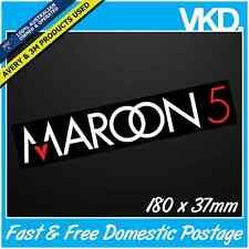 Maroon 5 Sticker/Decal - Band Music Pop Rock Adam Levine Vinyl Laptop Car Love