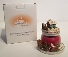 Nib! Avon Collectible Candle Jar & Topper Santa'S Workshop