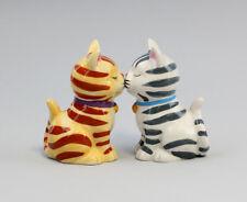 9976058 Salz/Pfeffer Streuer Paar Katzen Katze gestreift Keramik H8cm