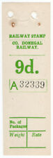 (I.B) County Donegal Railway : Parcel Stamp 9d