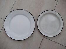 Vintage Enamel Plates x 2  Very good condition
