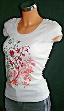 """""""Flashlights"""" Damen Shirt  Baumwolle T-Shirt kurzarm Ecru Natur 32/34 ,XS neu"""