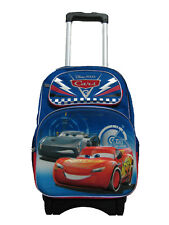 "A10953 3D Pop Out Cars 3 Large Custom Rolling Backpack 16"" x 12"" x 6"""