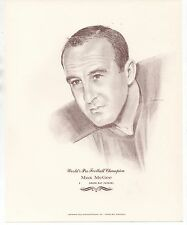 Large 1960s Print of NFL Champion Green Bay Packers Player Max McGee