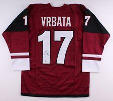 Radim Vrbata Signed Arizona Coyotes Jersey (Beckett COA) Playng career 2001–2018