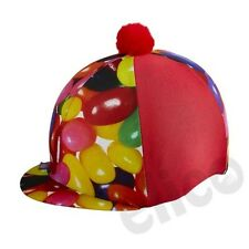 FUN JELLY BEANS LYCRA RIDING HAT / SKULL CAP COVER BY ELICO