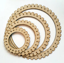 Circular weaving loom set laser cut wood