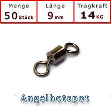 50 Wirbel stark 14KG Tragkraft Tönnchenwirbel Swivel Angeln Angelhotspot X2