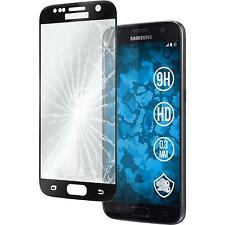 1 x Samsung Galaxy S7 Film de Protection Verre Trempé clair full screen noir