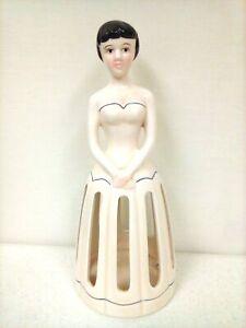 Vintage Ceramic Lady Slotted Napkin Holder Lillian Vernon         HG32