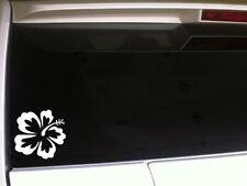"""Hibiscus Flower Car Decal Vinyl Sticker 6"""" D2 Laptop Hawaiian Tropical Beach"""