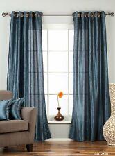 "Navy Blue Anneau / Grommet Top Textured Curtain / Drape / Panel - 84"" - Piece"
