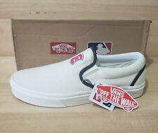 Vans CHICAGO Cubs Classic Slip On Wool Shoes VNOA3UT7RTD Authentic Sneakers NEW