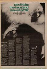 Paul Haig Interview NME Cutting 1982
