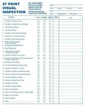 100 - 27 Point Automotive Service Inspection Forms / 2 Part Carbonless Tmg024