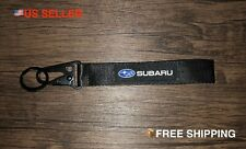 Subaru BLACK Racing Keychain Wrist Lanyard with Metal Keyring - FREE SHIPPING!