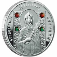 Belarus 2008 10 Roubles Saints of Orthodox St. Efrasinnia of Polotsk Silver Coin
