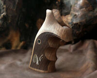 Smith & Wesson k&L Frame grips made from walnut wood and custom Brass Logo
