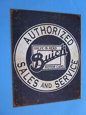 metal tin auto classic car gm buick dealer authorized sales service 2071