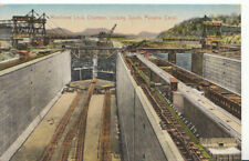 Panama Canal Postcard - Miraflores Lock Chamber Looking South - Ref 601A
