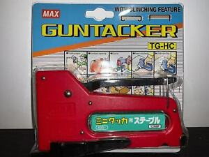 MAX TG-HC Gun Tacker Heavy Duty Stapler Clinching Feature with 1208F Staples