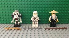 LEGO Ninjago Minfigure 3X lot Sensei Wu, Kruncha, Zane Golden 2507 2521 2255