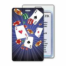 3D Lenticular Luggage Bag Travel Tag Poker Playing Card Chips #LT01-953#