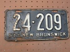 1953 NEW BRUNSWICK CANADA Vintage License Plate 24-209