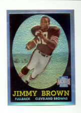 2001 Archives Reserve JIM BROWN Cleveland Browns Rookie Refractor Reprint