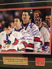 Team Canada 2002 Olympics Multi Signed Framed & Matte photo -Mario Lemieux +