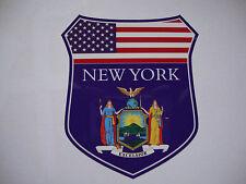 2 NEW YORK STATE FLAG SHIELDS USA CAR WINDOW BUMPER STICKERS JETS BULLS KNICKS