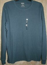 NWT Levi's Long sleeve Crew thermal Tee shirt mens Blue XXL + Beanie