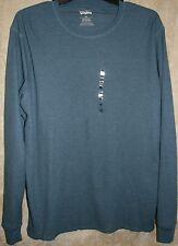 NWT Levi's Long sleeve Crew thermal Tee shirt mens Blue XXL + Beanie