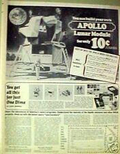 1970 Apollo Lunar Module Space Craft Build Your Own Model Kit Promo Trade Art Ad