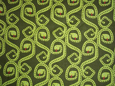 Handmade cotton Fitted crib sheet & Pillowcase, Snakes! Green/Neutral