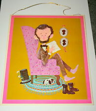 VTG Rare Abe Lincoln Whos Who Norcross Greeting Card Wall Hanging 1960s NOS New
